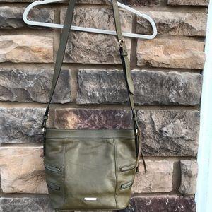 RebeccaMinkoff, green leather purse